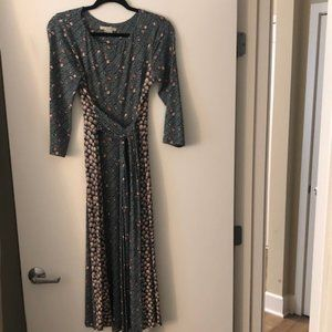 Boden Wrap Midi Dress - Size 4 LONG